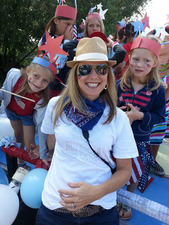 Lynna Broyles with daughters Emma and Maddie party in style on the Fourth of July  Photo courtesy Lynna Broyles