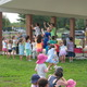 Karen K and the Jitterbugs lead the kids in a rockin' good song during the Tewksbury Summer Concert Series this week.
