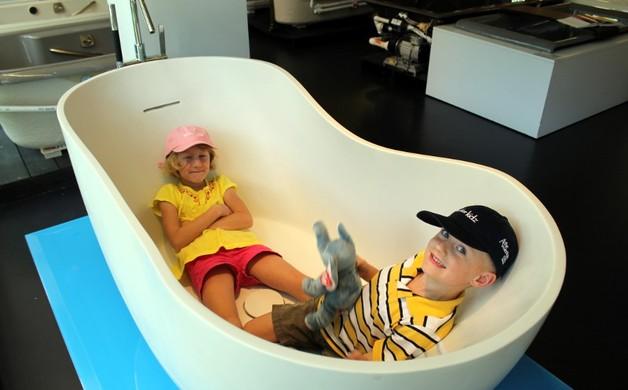 Egg Tub at Kohler Design Center
