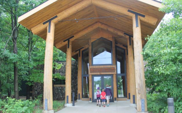 Entrance Hemlock Crossing Nature Center
