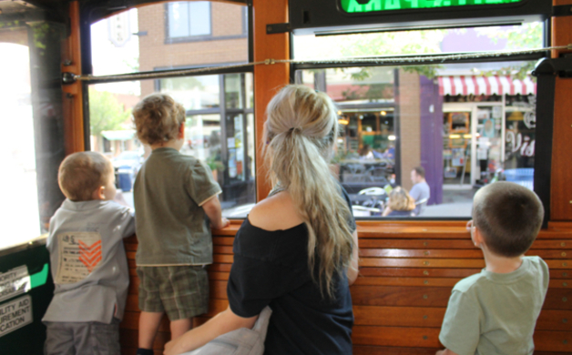 People on Trolley