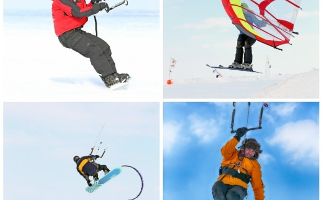 Wind Kiting Collage