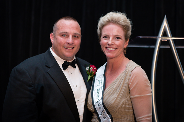 Tommy Bunce, 2015 Man of the Year, and Tracy Harrison, 2015 Woman of the Year