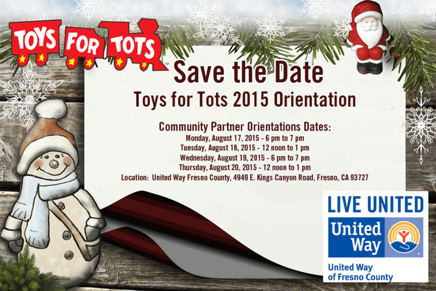 Form 501c3 Toys For Tots : Toys for tots orientation