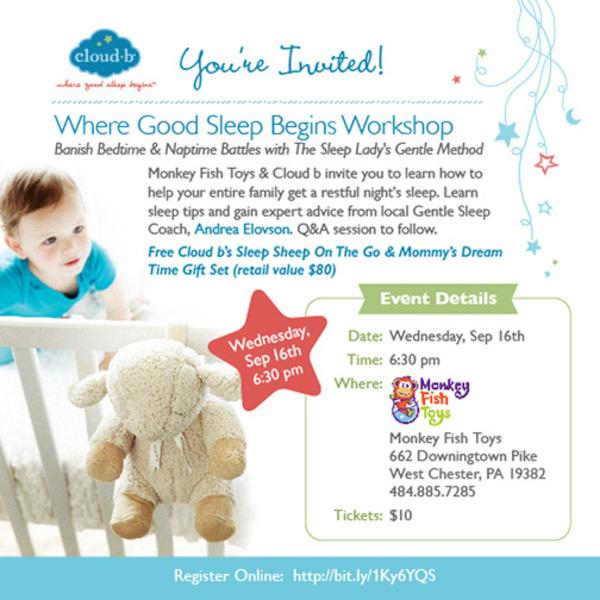 Where good sleep begins workshop for Monkey fish toys