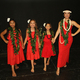 The Aloha Dancers: Riley, Emma and Kailani with Natasha Forsberg