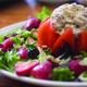 The Chicken and Walnut Stuffed Tomato Salad