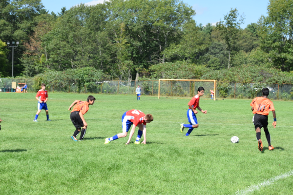 The Tewksbury U14 Boys pulled out a win last week over Woburn at Frasca Field. Photo by Kelley Ciampa.