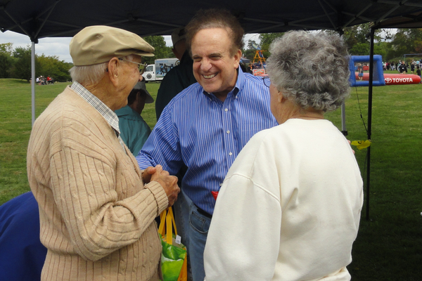 State Sen. Andy Dinniman enjoyed speaking with his constituents at the picnic.