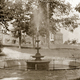 The original fountain with Chester County Hospital in the background Photo courtesy of Chester County Historical Society