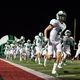 The Dragons take the field for the second half vs Coppell.  Photo by Stewart@SnappedDragons.com