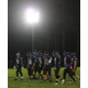 Shawsheen football players get ready for a play during Saturday night's game under the lights at Shawsheen's Cassidy Field. COURTESY PHOTO