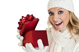 Medium woman holding present 1