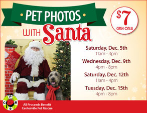 Pet Photos with Santa - start Dec 05 2015 1100AM