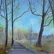 Wooded Path by featured artist Margaret Matuszewski