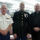L-R: Jim Hastings (USMC), Lt. Col Jason Borovies (USMC), and St. Brendan's Church Pastor Fr. David Mullen (USN)