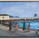 """The San Clemente Pier; 10""""x 20"""""""