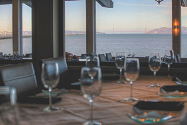 Skates on the Bay in Berkeley Marina features fresh seafood and breathtaking views of the San Francisco Bay. Be sure to get a window seat. Photo courtesy of Skates on the Bay.