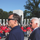 Al Perry with Congressman Jim Costa at World War II Memorial, September 15, 2014. Photo by Bud Elliott.