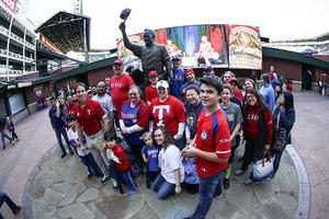 Texas Rangers Fan Fest Photo courtesy of Major League Baseball the Texas Rangers and Globe Life Park