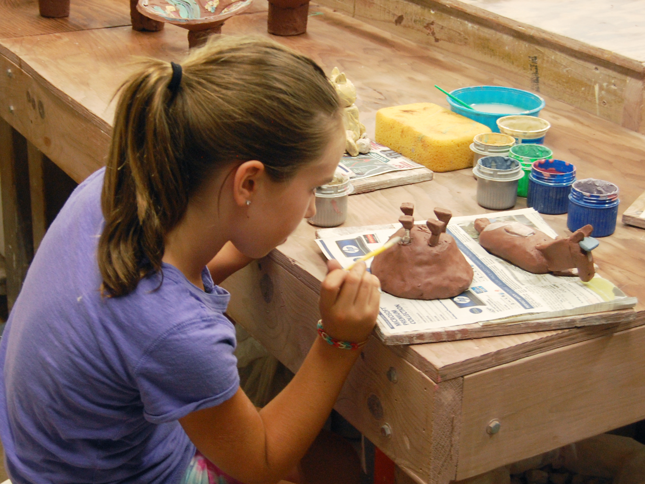 Allaboutanimals paintingclay