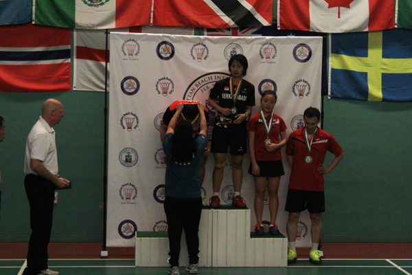David Yedija Pohan and Jenna Gozali of Indonesia win the mixed doubles tournament. Tony Gunawan and Mirabelle Huang earn second place. Photo by Jesse Padveen.