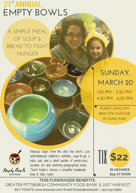 2016 empty bowls flyer
