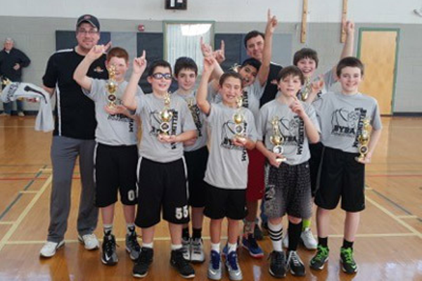 5th/6th grade Boys Champions—Marks Wells & Pumps Patrick Randazzo, Tyler Brooks, Patrick Healey, Joseph D'Agostino, Patrick Simpson, Vibrant Akkala, Collin Hensel, Jonathan Thibodeau, Head Coach Mike Simpson, Assistant Coach Dave Healey (not pictured, Philip Ghazali)