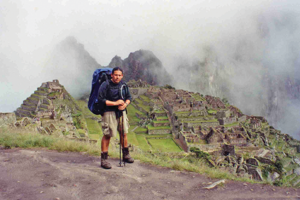 Steve on a hike above the famed Machu Pichu ruins.