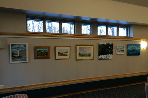 Tewksbury Community of Artists Donates Hanging Art System To Library For Monthly Exhibits