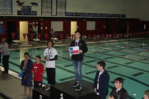 Carroll Diver Nate Hernandez winning district for the third year in a row Photo courtesy of Carroll Diving Coach Carolyn Hryorchuk