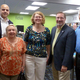 Officials at the Teen Room Grand Opening L-R Selectmen Chairman Mike Soter Town Clerk Ann Odabashian Library Director Bernadette Rivard State Rep Kevin Kuros and Town Administrator Denis Fraine