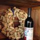 Cork wreath & wine at Cougar Run Winery.
