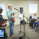 Don Mann and Lewis Lott perform a small concert for a stroke survivors group on May 20