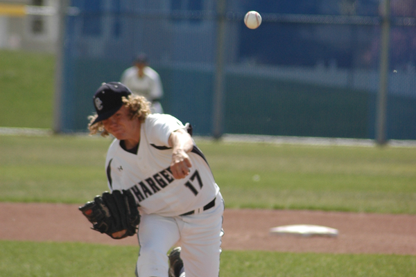 Corner Canyon senior Brayden Erickson led the Chargers in pitching with five wins this season.