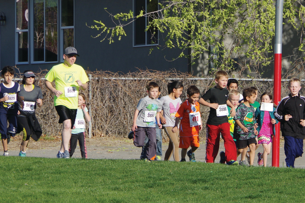 Midvalley students, family and friends ran around their school grounds April 19 as part of the annual school fun run. —Julie Slama