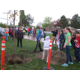 Jordan Ridge students help plant new trees that were donated to the school for Arbor Day. — Cathy Anderson