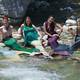 Members of the Utah Mermaids group sport their mermaid attire as they pose for a picture. – Utah Mermaids