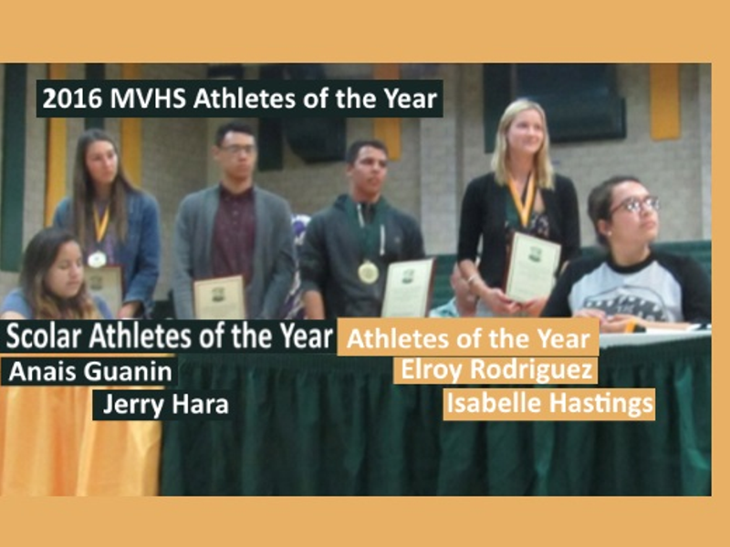 Isabella Hastings Wins MVHS 2016 Female Athlete of the Year