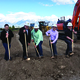 The Glade family breaks ground for their new Taffy Town facility. –Tori La Rue