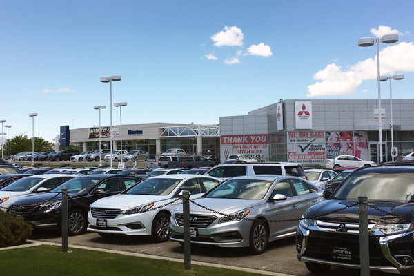 Pictured is Riverton Hyundai in the South Town Auto Mall in Sandy. West Jordan staff hopes that changes in state law will allow this kind of economic development in the west side of West Jordan. – Tori La Rue