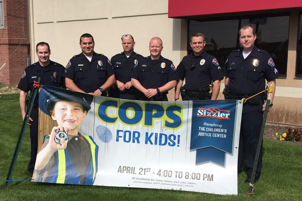 The West Valley City Police Department helped raise $3,782.44 during the Cops for Kids event. All proceeds go to the Children's Justice Center. – West Valley City
