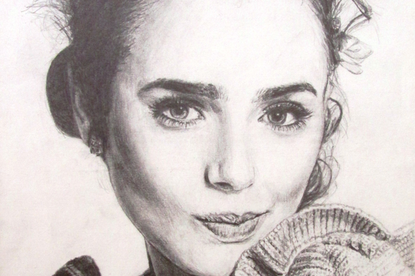 This pencil portrait was shown at last year's Student Art Show at the Oxford Arts Alliance.