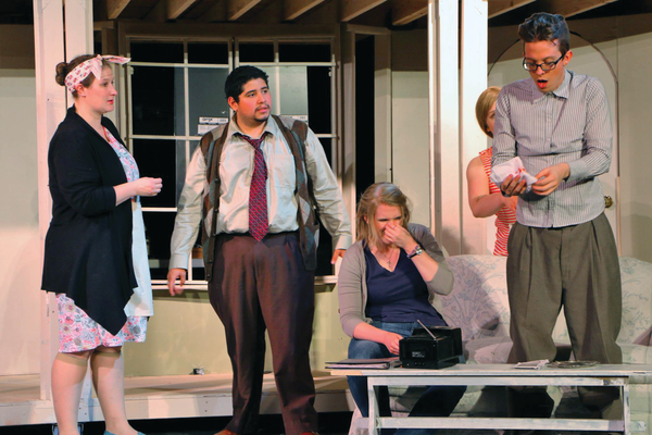 "The cast attempts to finish rehearsal during a production of ""Noises Off.""—Scott Twitchell."