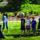Kids learn about aerospace using giant bubbles. —Rhett Ogden