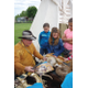 Mountain Man Boyd Lythgoe showed Silver Mesa fourth-graders animal skins and supplies mountain men used when exploring the west. — Julie Slama
