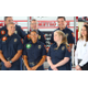 Front row R-L: Firefighters Jared Thomas, Emma Weatherhead, Education Specialist Kimberly Hornberger, Executive Secretary Carrie Phillips. Back row R-L: Tyson Aston, Battalion Chief Eric Larsen, Bryant Widison. (Photo: Chris Larson, Sandy City Journal)