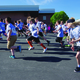 On your mark: Liberty students take off at the school's fifth annual fun run. This year, it was made into a fundraiser to help raise more than $15,000 for playground equipment. —Julie Slama