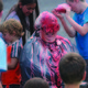Liberty fourth-grade teacher Toni Wilkins has an extra-sweet day as students turn her into a human sundae May 27 to celebrate surpassing their fundraising goal with the school fun run. —Julie Slama