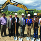 South Jordan City Mayor Dave Alvord, Members of the South Jordan City Council and South Jordan City Staff pose for a picture at the SoJo Station groundbreaking for a the first of two office buildings that are slated for developing. – Tori La Rue